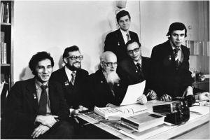 А.А.Захарьян, Ю.Н.Филатов, И.В.Петрянов, А.Д.Шепелев, М.С.Якушкин, В.А.Рыкунов (слева на право), 1982 год